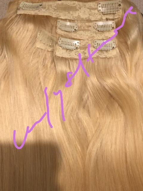 Premium Clip in Hair Extensions 55 cm, Farbe: Blond 613